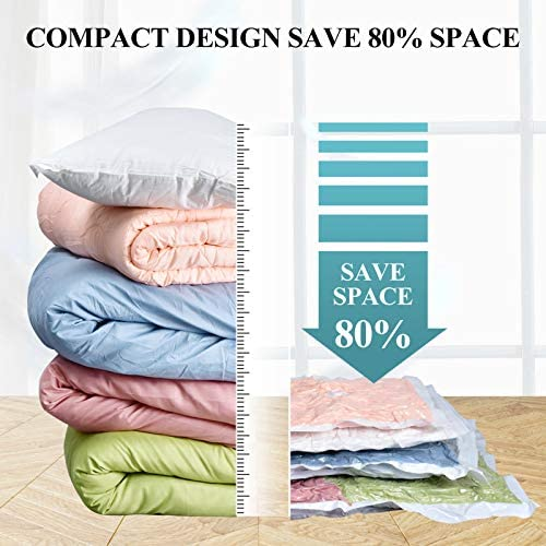 MXBOLD 67PCS Vacuum Storage Bags with Air Pump, Reusable Vacuum Compression Space Saver Bags, Suitable for Clothes, Mattress, Food vacuum Storage, Swimming Ring, Inflatable Cushion
