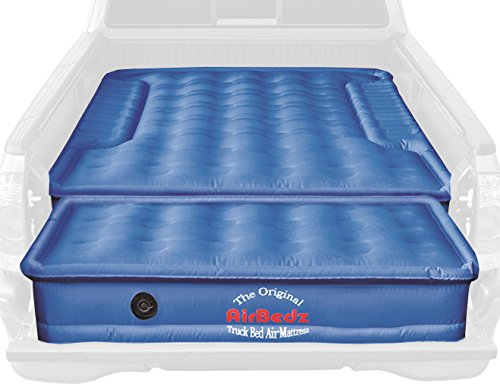 AirBedz PPI-105 Original Blue Original Truck Bed Air Mattress (for Mid-Size Short Beds with Tailgate Mattress)