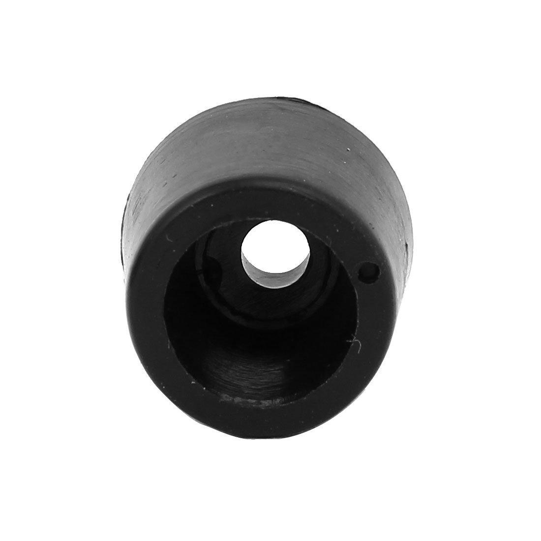 DealMux 17mmx15mm Rubber Conical Non-Slip Cover Tip Furniture Floor Pads Black 500pcs