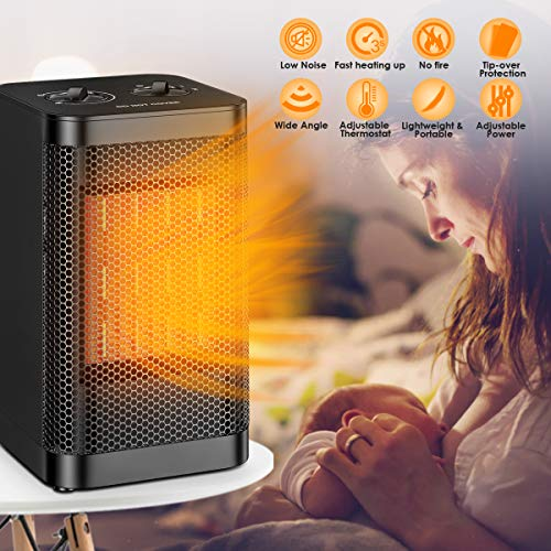 Qoosea Portable Space Heater Mini