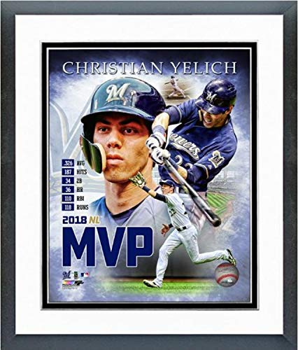 - Christian Yelich Milwaukee Brewers 2018 MVP MLB Composite Photo (Size: 12.5