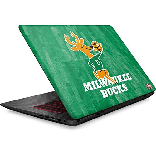 Skinit NBA Milwaukee Bucks Omen 15in Skin - Milwaukee Bucks Hardwood Classics Design - Ultra Thin, Lightweight Vinyl Decal Protection by Skinit