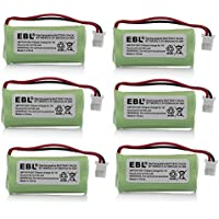 EBL 6 Packs 2.4V 600mAh Cordless Home Phone Battery Replacement Battery for AT&T BT162342 BT162342 BT166342 BT-166342 BT266342 BT-266342 Interstate Batteries ATEL0068 TEL0068