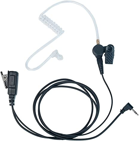 1Pin Acoustic Tube Headset PTT Mic Earpiece for Motorola Talkabout Radio