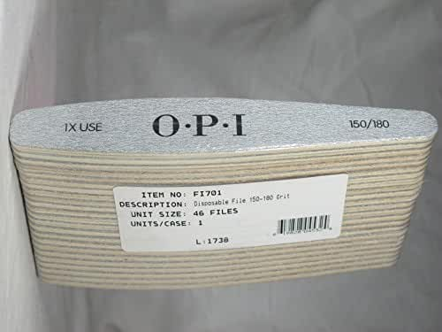 OPI Disposable 150/180 Grit Women Nail File, 46 Count