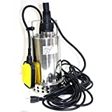 Gracelove 1 HP Stainless Submersible Pool Pond Drain Sub Water Pump 900W 50GPM PUMP