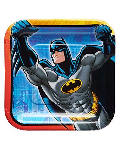American Greetings Batman Party Supplies, Paper Dessert Plates (40-Count)