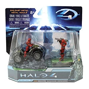 HALO 4 Combat Edition: 2.8 UNSC Mongoose with Red Spartan Soldier and Warrior. by Halo 4