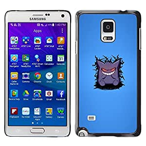 Stuss Case / Funda Carcasa protectora - Cute Monster White Teeth Cartoon Smile Art - Samsung Galaxy Note 4 SM-N910