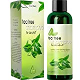 Dandruff Shampoo with Tea Tree Oil for Men and Women - All Natural, No Sulfate Anti-dandruff Formula with Organic Essential Oils - 100% and USA Made By Honeydew Products