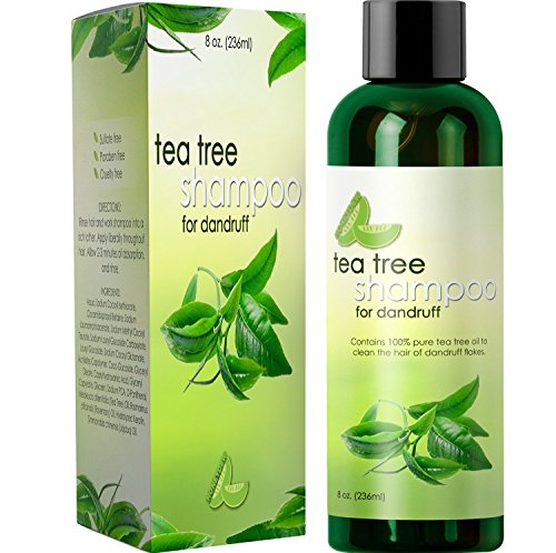 Dandruff Shampoo with Tea Tree Oil for Men and Women (8oz) – All Natural, No Sulfate Anti-dandruff Formula with Organic Essential Oils – 100% Money-back Guaranteed and USA Made By Honeydew Product