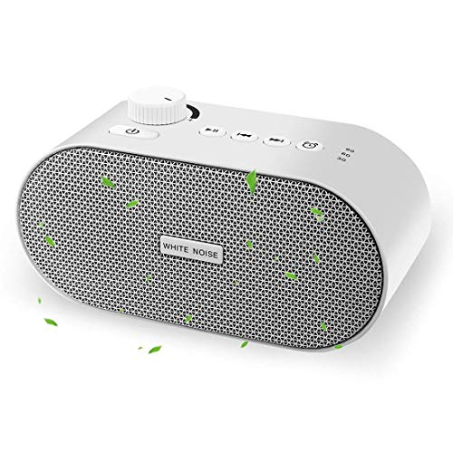 COPACHI White Noise Machine for Sleeping Baby, Sleep Sound Therapy Machine with 26 Soothing Sounds,3 Timer Settings,USB/AV or Battery Powered for Home,Office,Travel,Baby Sound Machines for Sleeping