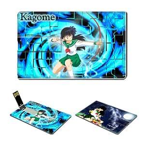 8GB USB Flash Drive USB 2.0 Memory Credit Card Size Anime Inuyasha Comic Game Customized Support Services Ready Kagome Higurashi 005