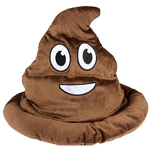 Novelty Treasures Soft Fabric Brown Emoji Poop Hat -