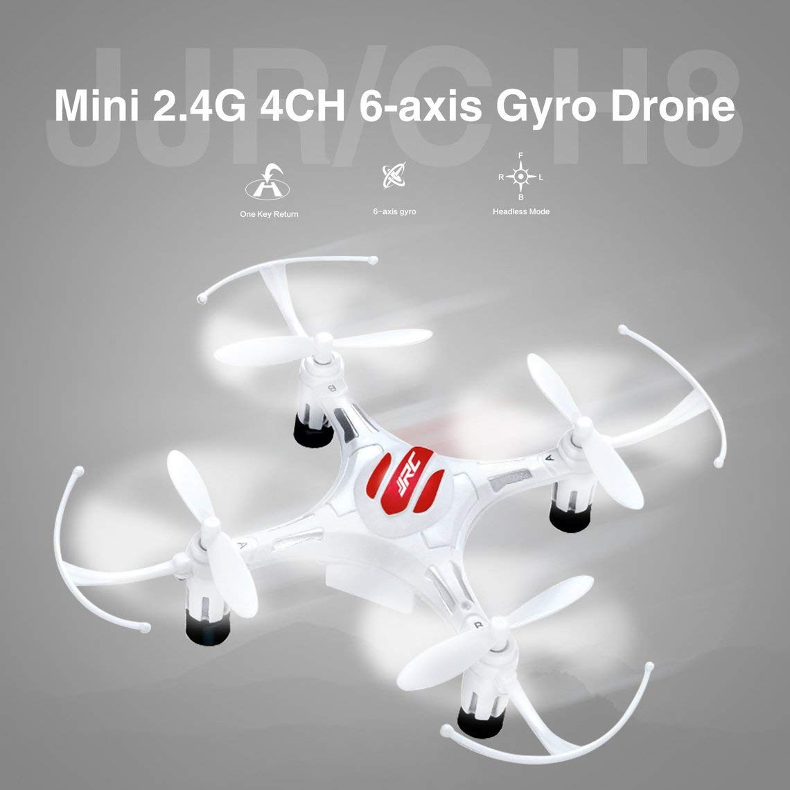 Zinniaya JJR / C H8 Mini 2.4G 4CH 6 Ejes Gyro Headless Mode Drone ...