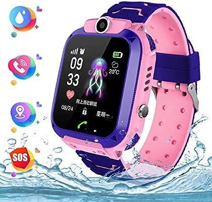 Smart Watch Telefono para Estudiante Niños, IP67 Impermeable Reloj, AGPS/LBS localizador Reloj del Teléfono SOS Chat de Voz Reloj de Cámara, Reloj ...