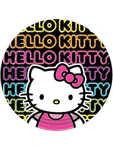 amscan Hello Kitty 'Neon Tween' Large Paper Plates (8ct) -