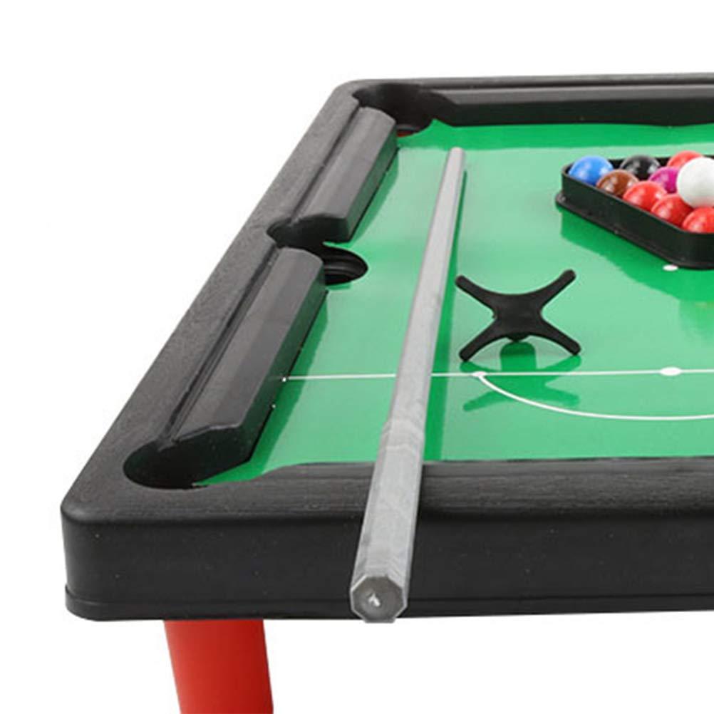 BESTOYARD Juego de bolas de billar mini para ni/ños Juego de billar americano Mesa de billar Mini juegos de mesa Regalo para ni/ños