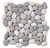 Emser Tile M18VENEME1212MSH Venetian Pebble Medici BLD Tile, 12 x 12''