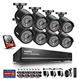 SANNCE Complete 8CH 960H Surveillance DVR with 1 TB Hard Drive 8xHD 900TVL Outdoor Fixed Bullet Cameras CCTV Security Camera System, IP66 Weatherproof, Super Day/Night Vision
