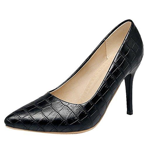 Charm Foot Womens Scarpe A Punta Tacco Alto Moda Scarpe Nere
