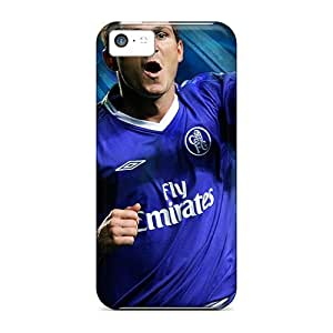 Fashionable Style Case Cover Skin For Iphone 5c- The Halfback Of Chelsea Frank Lampard Scored A Goal