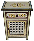 Moroccan Dresser Night Stand Table Arabesque Wood Moorish Hand Painted Handmade Beige