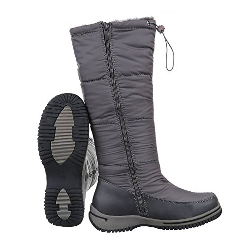Mujer Ital clásicas gris botas Design qqtFxSf