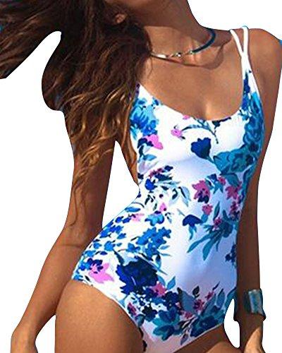Up Donna Aspicture Schienale Costume Senza Push Bikini Beachwear Costumi pezzo Un Intero Imbottito Stampato da q6fnxHUIE