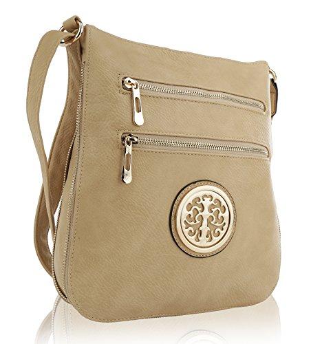 MKF Collection RONEEDA Women Crossbody Bag with Shoulder Strap (Beige Medium)