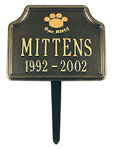 """My Kitty"" Cat Paw Memorial Lawn Marker 11""W x 9""H"