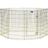 MidWest Exercise Pen with Door, 42-Inch, Gold