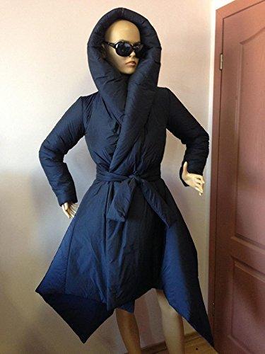 Women's Winter Hoodie Down Coat/ Wraped Puffer Asymmetrical Coat,Winter down jacket by StudioMariya