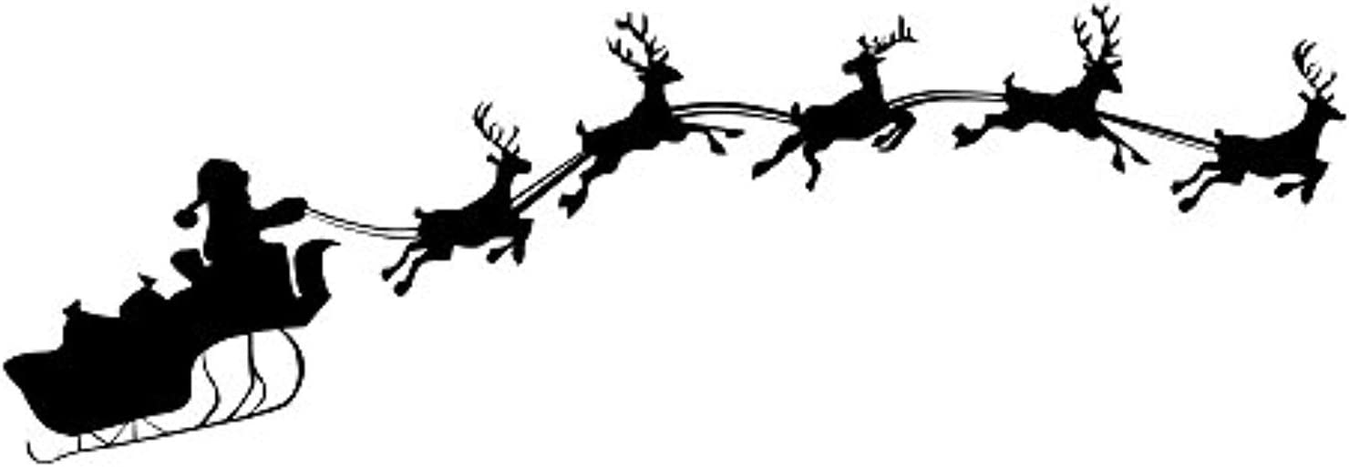 Santas Sleigh//Christmas Tree Wall Art Design Various Sizes//Colours