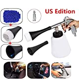 bopopo High Pressure Cleaning Tool Car Interior Care Tool Washing Gun Air Pulse Equipment,1L Cleaning Bottle and Nozzle Sprayer (US Edition-Applicable 1/4' MNPT Quick Connector)