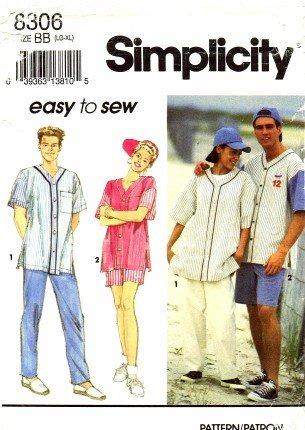 Simplicity 8306 ~ Schnittmuster-, Herren- Oder Teen Jungen Baseball ...