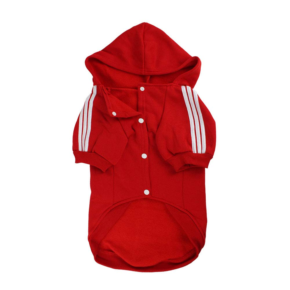 Red 3XL Red 3XL Winter Dog Sportswear Coat Hoodie Apparel Clothing Outdoor Sportswear Breathable Suitable for Large and Medium Pets,Red,3XL