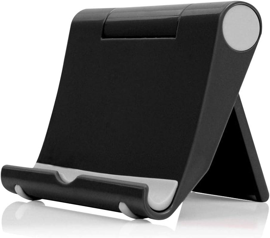 LAAT Soporte Universal Plegable multiángulo para teléfono, iPad Pro, iPad Air, iPad Mini, tabletas (Black)