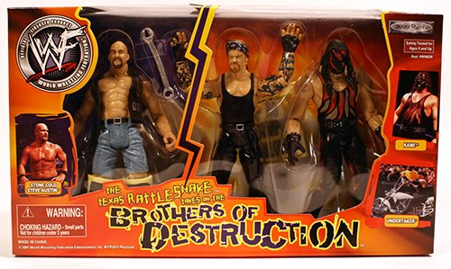 WWF The Texas Rattle Snake Take on the Brother of Destruction Box Set Kane ,Undertaker & Stone Cold Steve Austin