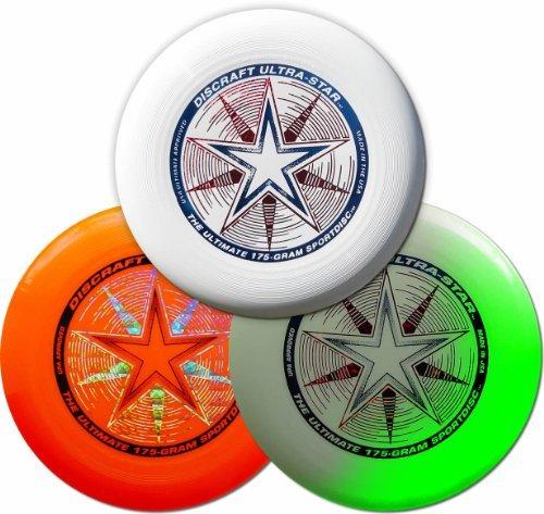 Discraft 175g Ultimate Disc Bundle (3 Discs) White, Orange & Glow by Discraft