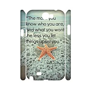 3D Samsung Galaxy Note 2 Case Stay Strong the More You Know Who You are and What You Want, [White]