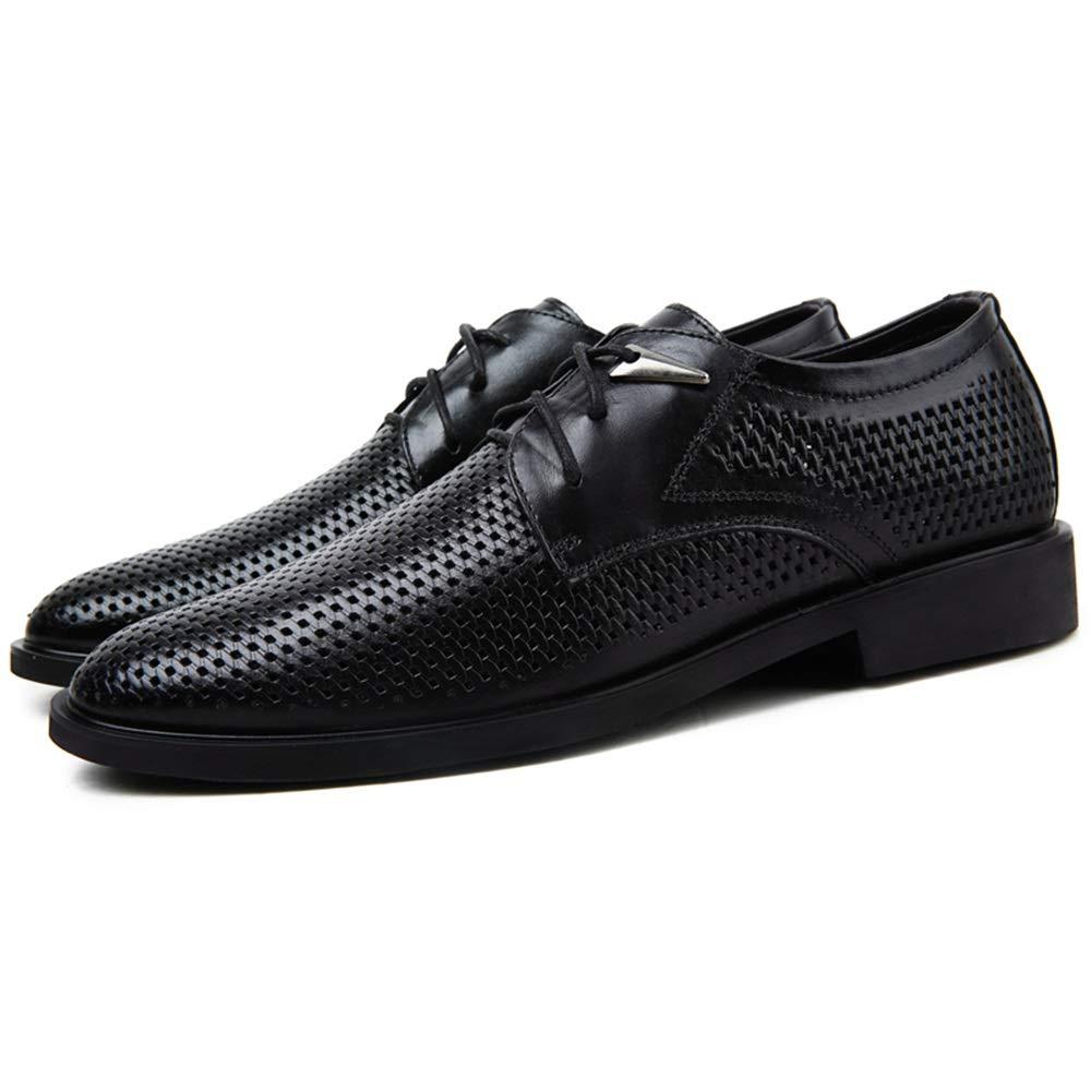 Zhangcaiyun Lederschuhe für für für Männer Business Oxfords Atmungsaktive Slipper Perforierte Schnürschuhe Business Oxford Schuhe (Farbe   Dunkelbraun, Größe   41 EU)  934db4