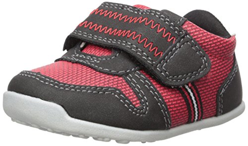 (Carter's Every Step Boys' Stage 3 Walk, Jamison-WB Sneaker, Red/Black, 6.0 M US (12-18 Months))