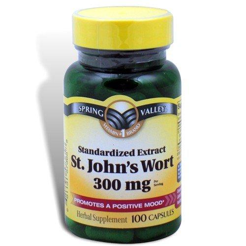 Spring Valley - Wort 300 mg de St. John, 100 Capsules