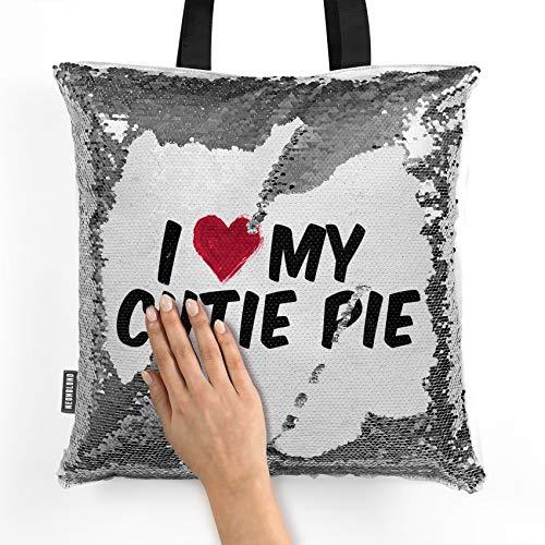 NEONBLOND Mermaid Tote Handbag I heart love my Cutie Pie Reversible Sequin