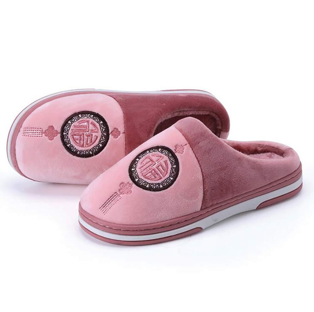 SHANGXIAN Invierno Interior Antideslizante Pantuflas Dormitorio Casual Suave Y Comodo Felpa Zapatos De La Casa,A,36/37: Amazon.es: Hogar