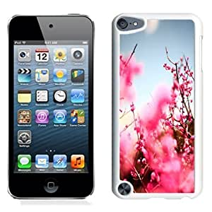 NEW Unique Custom Designed iPod Touch 5 Phone Case With Pink Cherry Blossom Tree_White Phone Case