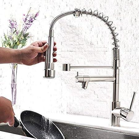 GD Niederdruck Wasserhahn K/üche Edelstahl Mischbatterien Kueche K/üchenarmatur mit Brause Ausziehbar