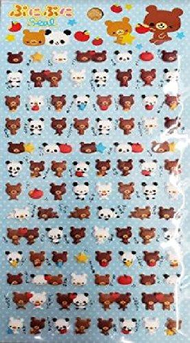 BeeCrazee Bears Mini Seal Puffy Sticker Decorative Fun