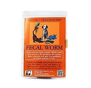 Perfect Pet Fecal Worm At-Home Detection Test Kit - Detects Roundworms, Hookworms, Whipworms and Coccidia in All Animals